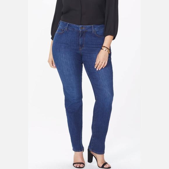 NYDJ Denim - NYDJ | Marilyn straight jeans in dark wash
